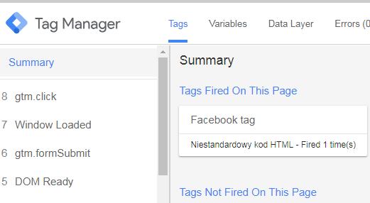 Poradnik google tag manager z facebookiem