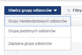 grupy niestandardowych odbiorców facebook