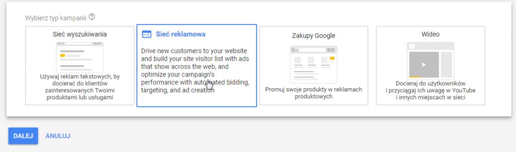 kampania na sieć reklamową w google