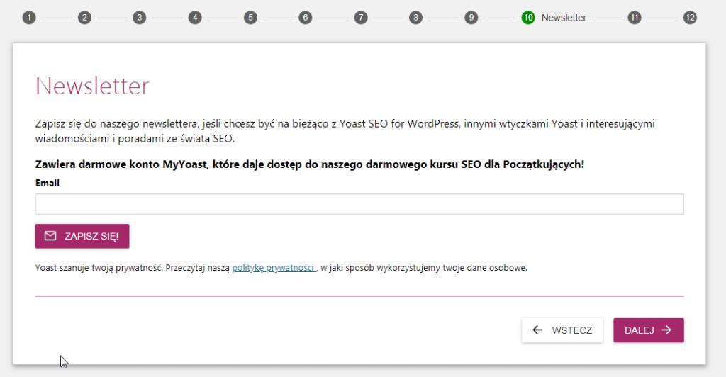 subskrypcja yoast seo mail