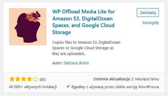 Podłączenie CDN Google z WordPressem: WP Offload Media Lite