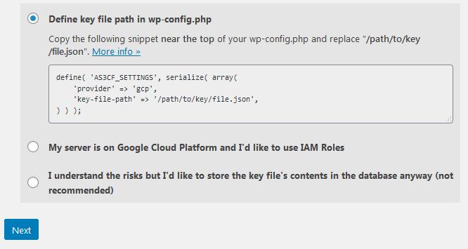 Dodawanie danych autoryzacyjnych z Cloud Platform