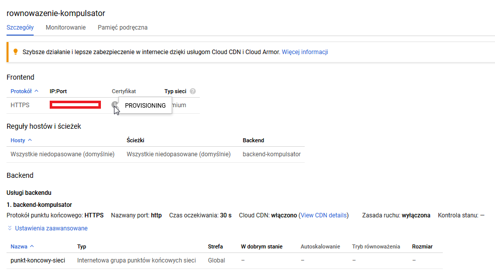Testy końcowe: Google CDN dla WordPressa