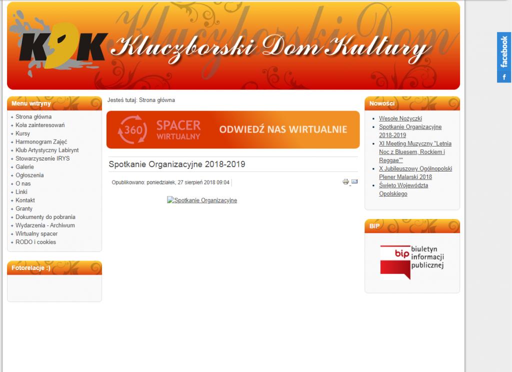Kluczborski Dom Kultury - Nowa strona internetowa